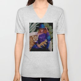 """""""Strength and Courage"""" Unisex V-Neck"""