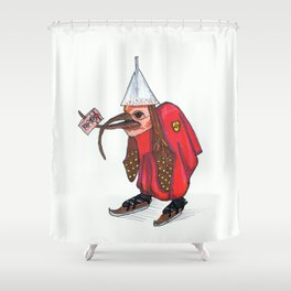 Bird With Letter Shower Curtain