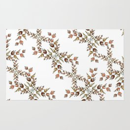 Elegant lace autumn pattern Rug