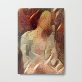 Woman in negligee Metal Print