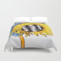 you are my sunshine Duvet Covers featuring You Are My Sunshine by The Blue Sardine_Art by Terri Price