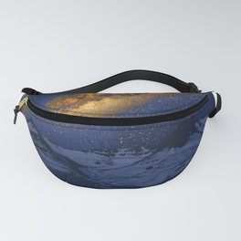 Glowing Tent Under Milky Way Fanny Pack