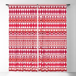Pattern with hearts for Valentine's day Blackout Curtain
