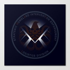 Hidden HYDRA - S.H.I.E.L.D. Logo with Wording Canvas Print