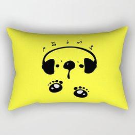 Panda bear love music Rectangular Pillow