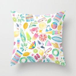 Summer Extravaganza Throw Pillow