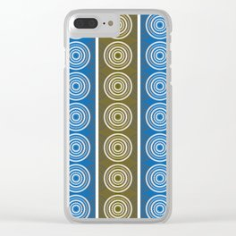 Purple Cornflower Pattern Clear iPhone Case