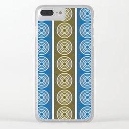 Purple Cornflower Pattern Clear iPhone Case