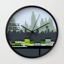 Seattle in Color Wall Clock