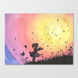 Surrounded By Love / Les Papillons Canvas Print