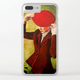 Red Beret Clear iPhone Case