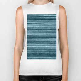 Teal watercolor brushstrokes geometrical stripes Biker Tank