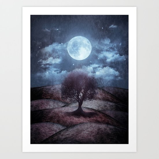 Once Upon A Time The Lone Tree Art Print By Viviana