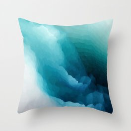 """""""Inner Calm"""" Turquoise Modern Contemporary Abstract Throw Pillow"""