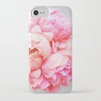 peonies iPhone & iPod Cases featuring Peonies Forever by Ez Pudewa