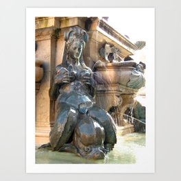 The She-Fountain Art Print