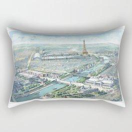 Paris art print Paris Decor office decoration vintage decor eiffel tower of Paris Rectangular Pillow