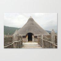 scotland Canvas Prints featuring Crannog - Scotland by Peter Cassidy