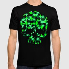 Triangle Camouflage Skull (WITHE) Black MEDIUM Mens Fitted Tee