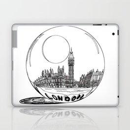 London in a glass ball . art Laptop & iPad Skin