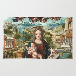 Virgin and Child with the Infant Saint John Rug