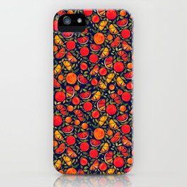 Oranges and Leaves iPhone Case