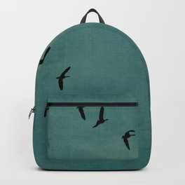GEESE FLYING - TEAL Backpack