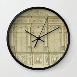 Classical Library Architecture Wall Clock