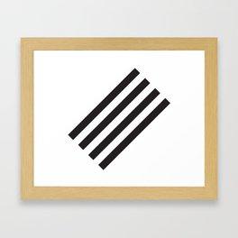 Dark Stripes Framed Art Print