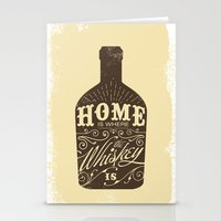 whiskey Stationery Cards featuring Whiskey by irosebot