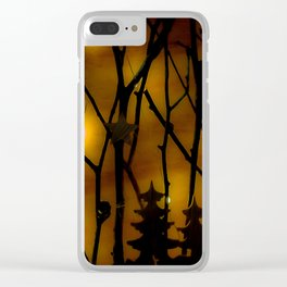 Woodland Scene. Clear iPhone Case