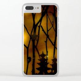 Woodland Scene. Clear iPhone Case