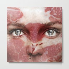 Meat Face Metal Print
