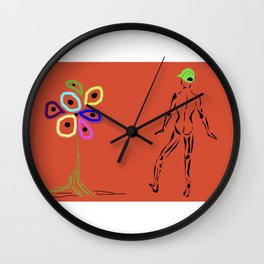 Flower With Male Wall Clock