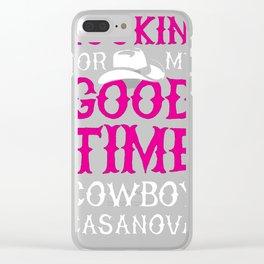 COWBOY CASANOVA RACERBACK TANK Clear iPhone Case