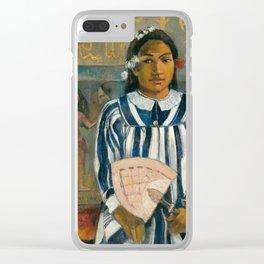 The Ancestors of Tehamana by Paul Gauguin Clear iPhone Case