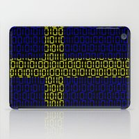 sweden iPad Cases featuring digital Flag (Sweden) by seb mcnulty