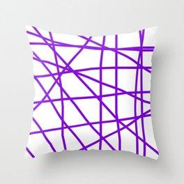 Doodle (Violet & White) Throw Pillow