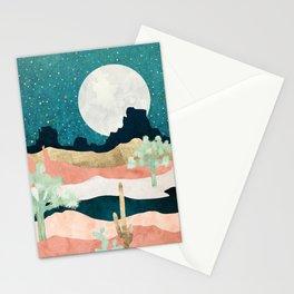 Desert Moon Vista Stationery Cards