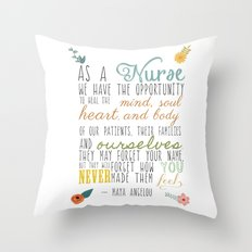 As a Nurse... Throw Pillow
