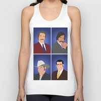 anchorman Tank Tops featuring News Team Assemble - Anchorman by Tom Storrer