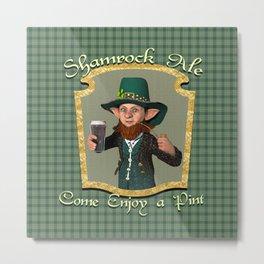 Shamrock Ale Metal Print