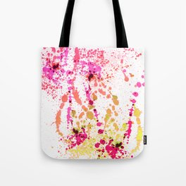 Uplifting Heat - Abstract Splatter Style Tote Bag