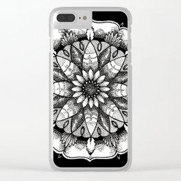 FlowerMandala Clear iPhone Case