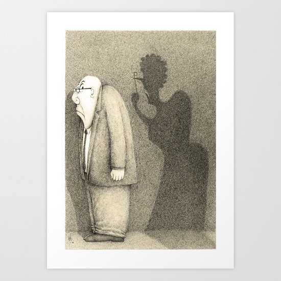 """Yes Darling"" (Sepia version)  Art Print"