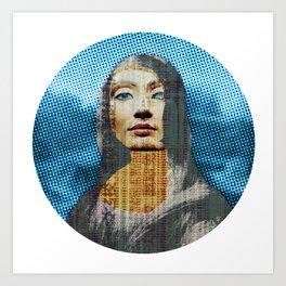 Nona Lifretéte in blue · CropCircle Art Print