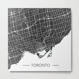 Toronto City Map Metal Print