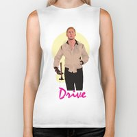 ryan gosling Biker Tanks featuring Drive - Ryan Gosling by Just Jolt