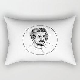 Albert Einstein Portrait Rectangular Pillow