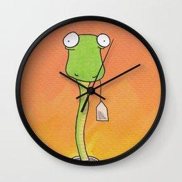Snake In My Tea Wall Clock